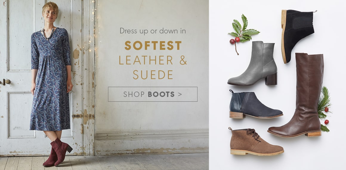 Softest Leather & Suede, Shop Boots
