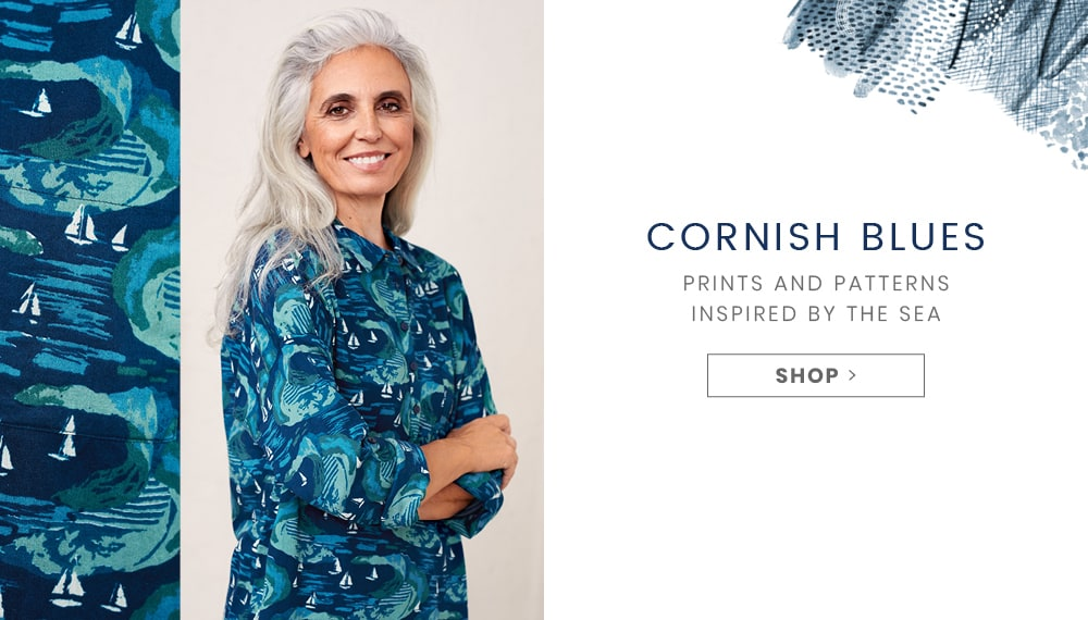 Shop Cornish Blues, Prints and patterns inspired by the sea.