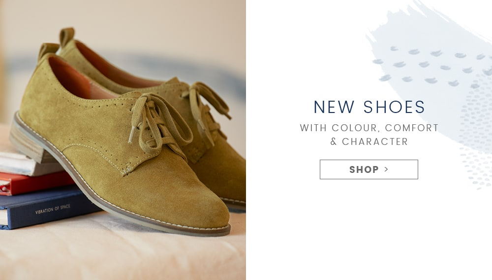 New shoes with colour, comfort and character