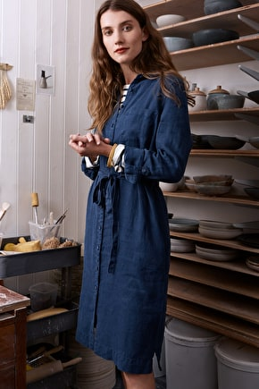 Cornish Fairing Linen Shirt Dress - Seasalt