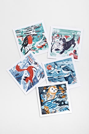 Pack 10 Christmas Cards, All Profit goes to Charity - Seasalt Cornwall