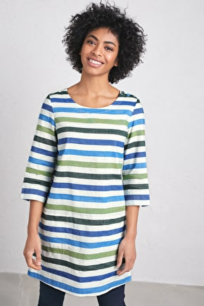 Glowing Skies Tunic, Cotton Linen Blend - Seasalt