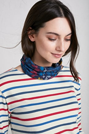 Handyband. Printed Organic Cotton Strechy Headband - Seasalt