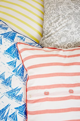 Print & Chambray Cotton Euro Pillowcase