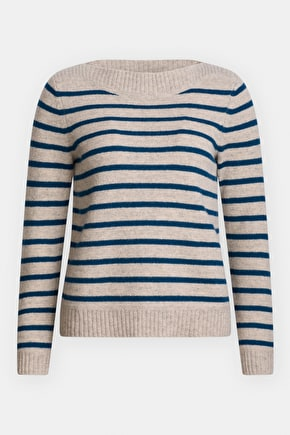 Vellum Jumper, Breton Striped Heritage Knit - Seasalt Cornwall