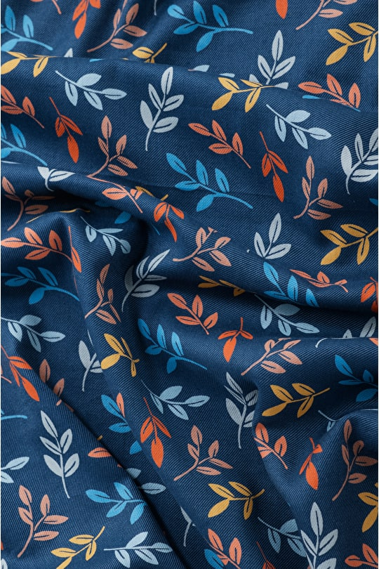 Printed Cotton Viscose Twill Fabric