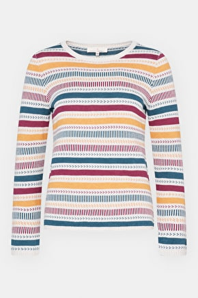 Climbing Ivy Jumper, Striped Cotton Relaxed Jumper - Seasalt Cornwall