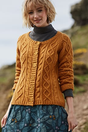 Beautiful Soft Cable Knit Cardigan. In Merino Wool - Seasalt