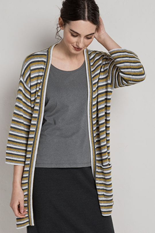 Edge to Edge Striped Cardi, Stream Womens Cardigan - Seasalt
