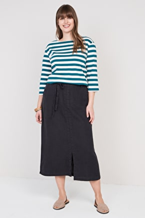 Pencil Lead Skirt, Linen Ankle Length Straight Skirt - Seasalt