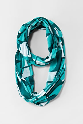 Woven Cotton Circle Winding Spoil Scarf - Seasalt