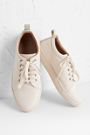 Gull Point Trainer, Comfy Cotton Twill Shoes - Seasalt Cornwall