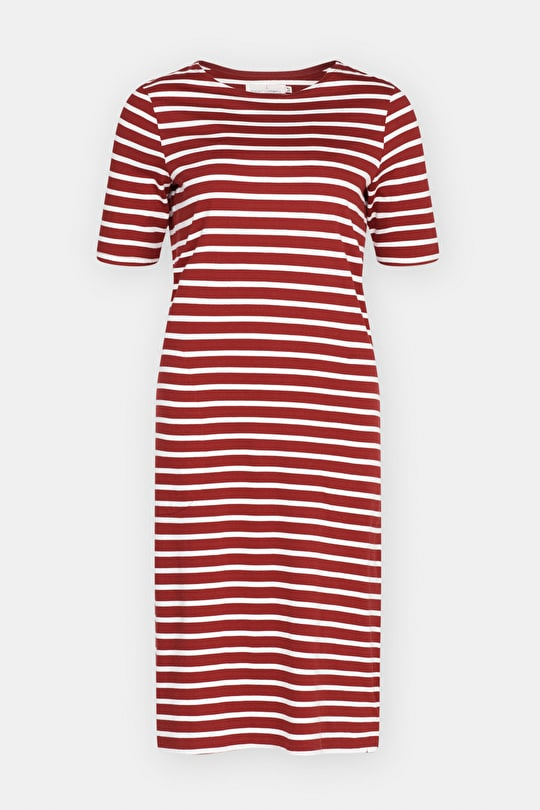 Organic Cotton Breton Striped Boat Neck Midi Sailor Dress - Seasalt