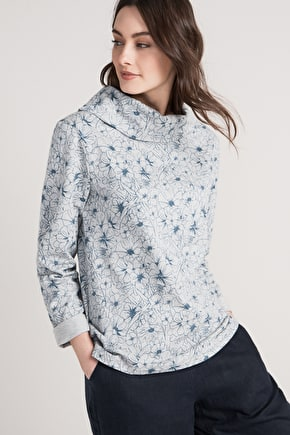 Parbolia Sweatshirt, Organic Cotton Relaxed Fit - Seasalt
