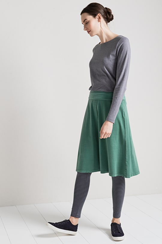 Easy To Wear Cotton Jersey A-Line Skirt - Seasalt