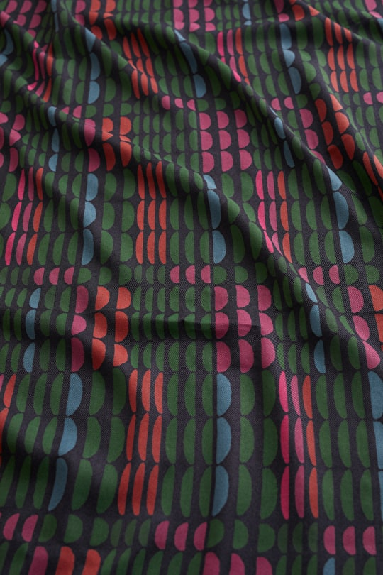 Printed Cotton Viscose Twill Fabric - Seasalt