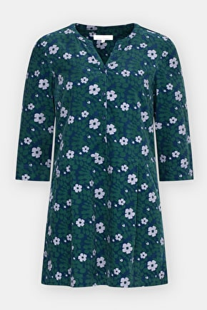Easy To Wear Cotton Cord Tunic Top. In Unique Seasalt Prints