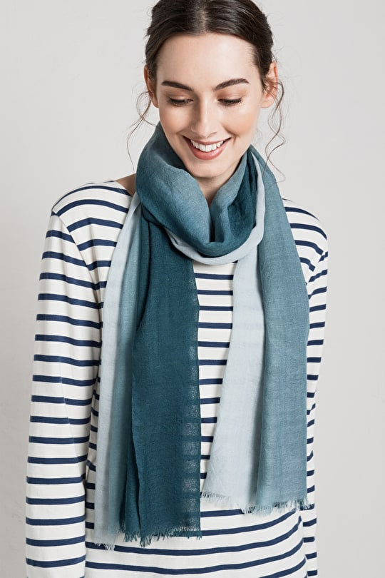 Preserves Scarf. Luxury Silk & Wool Blend  - Seasalt