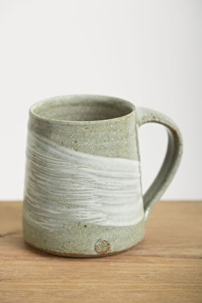 Glazed Handmade Clay Mug - Leach Pottery - Seasalt