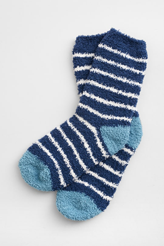 Fluffies Sock - Soft Knitted Recycled Fibre Socks - Seasalt
