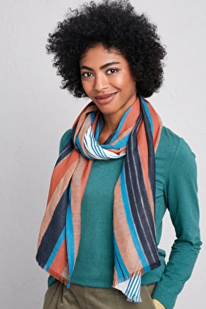 Evening Breeze Scarf - Lightweight Cotton & Wool Blend - Seasalt