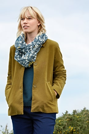 Country Walk Jacket, Soft Cotton Twill Moleskin Coat