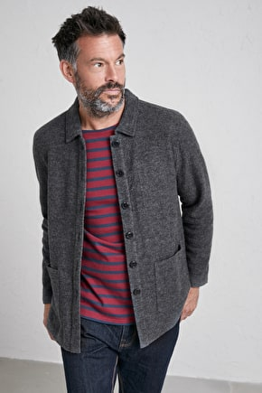 Men's Bos Verbas Jacket, Boiled Merino Wool Lightweight Jacket