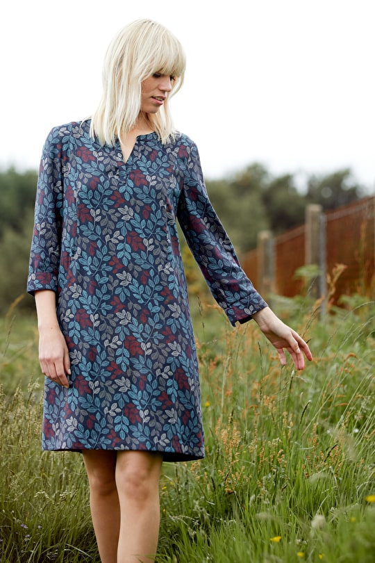 Film Review Dress, Fully Lined Cotton Shift Dress - Seasalt Cornwall