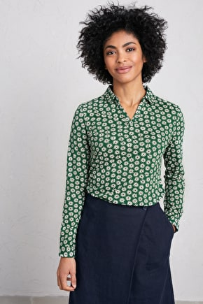 Bettony Top, Cotton & Modal Jersey Shirt - Seasalt Cornwall