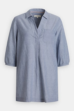 Cliff Castle Shirt, Oversized Breathable Striped Cotton Shirt - Seasalt Cornwall
