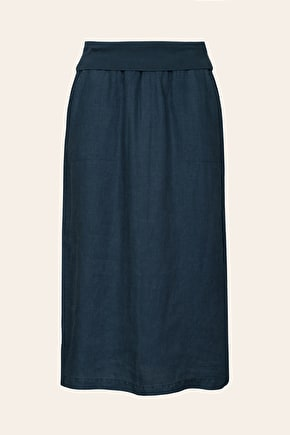 Angel Ray,  Linen Midi Length Skirt - Seasalt