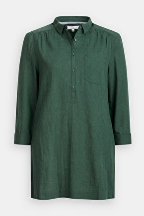 Kemyel Shirt, Melange Cotton Longline Shirt - Seasalt Cornwall