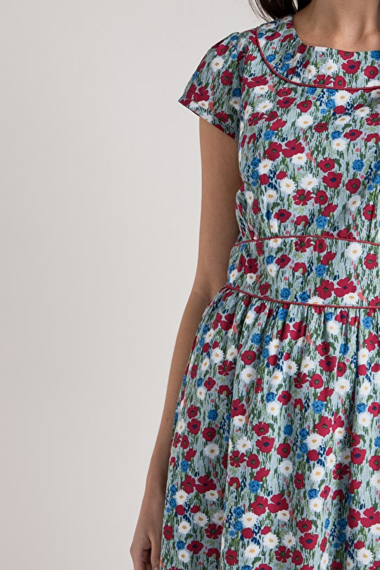 Briarfield Dress, Floral Cotton Tea Dress - Seasalt
