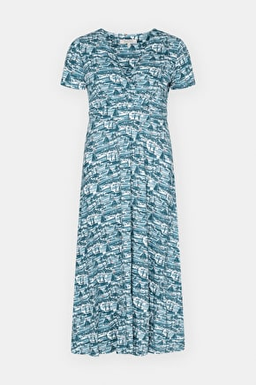 Chapelle Organic Cotton Midi Length A-Line Dress - Seasalt