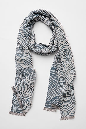 Woodland Trail Scarf, Cotton and Wool Blend - Seasalt Cornwall