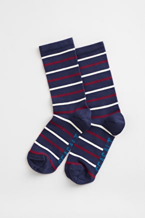 Striped Bamboo Ankle Socks, Sailor Socks - Seasalt