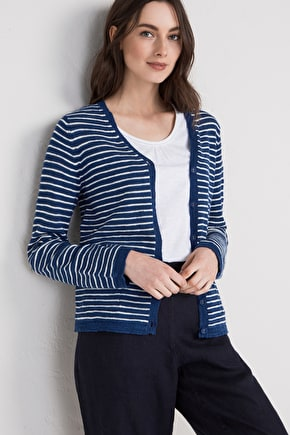 Imperial Cardigan - long linen cotton blend- Seasalt