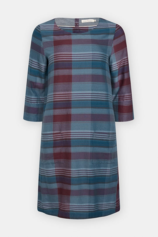 Silky Soft Tunic Dress. Yarn Dye Cotton Stripes - Seasalt