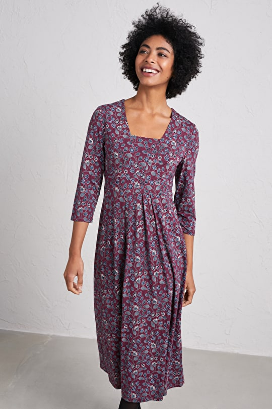 Seed Packet Dress, Bamboo Jersey Midi Dress - Seasalt