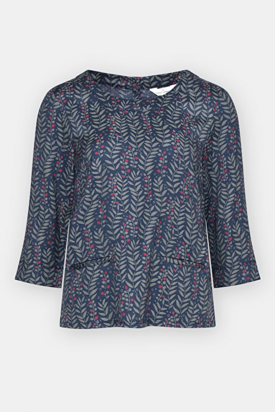 Line Art Top - Soft Woven Cotton Twill Ladies Top - Seasalt