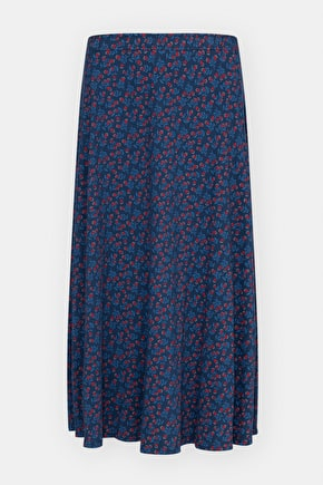 Orchard floral cotton jersey midi skirt - Seasalt