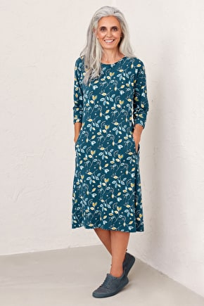 Easy To Wear Cotton Trapeze Dress - Seasalt