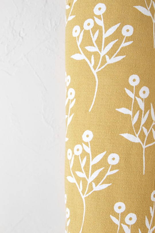 Printed Textured Cotton Fabric - Seasalt