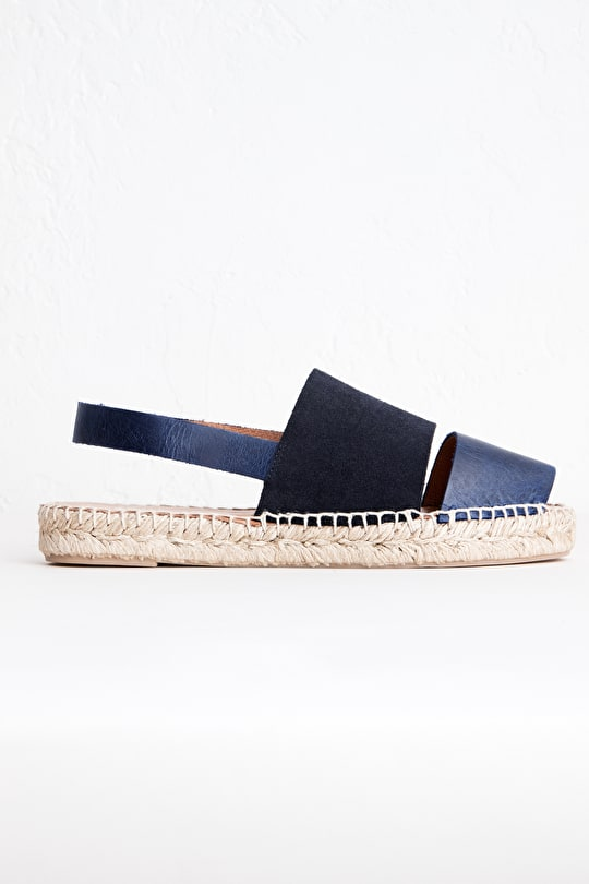 Wildflower Espadrille, Suede and Leather Espadrille - Seasalt