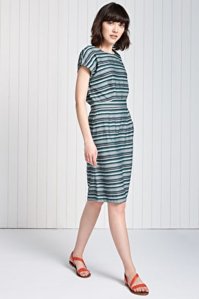 Knee Length Striped Boat Neck Du Vin Dress - Seasalt