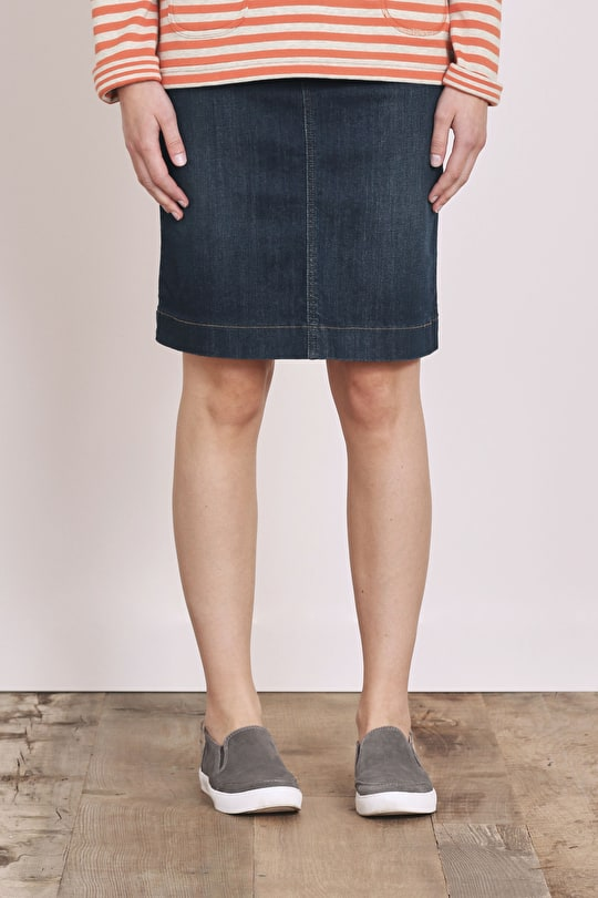St. Endellion Skirt | Straight denim skirt | Seasalt