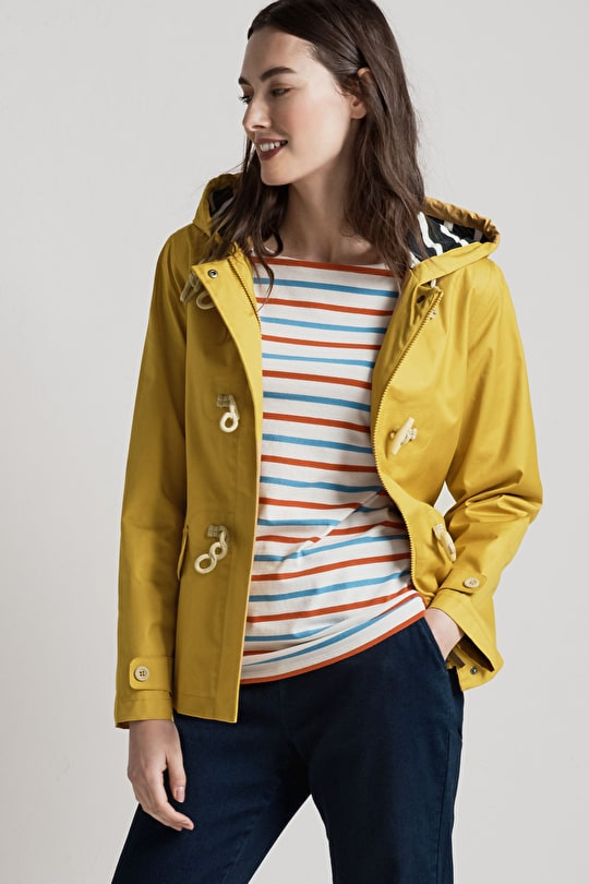 Original Seafolly Jacket. Short Lightweight Yellow Raincoat - Seasalt