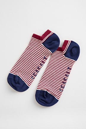 Men's Sailor Striped Trainer Socks, Soft Bamboo - Seasalt Cornwall