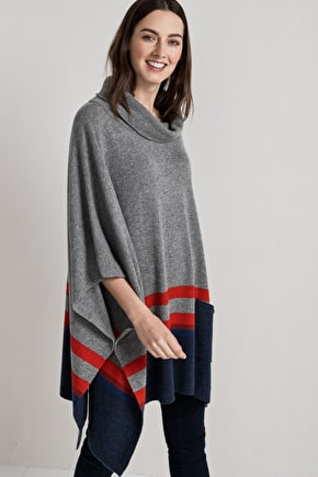 Blustery Poncho | Merino wool knitted poncho | Seasalt