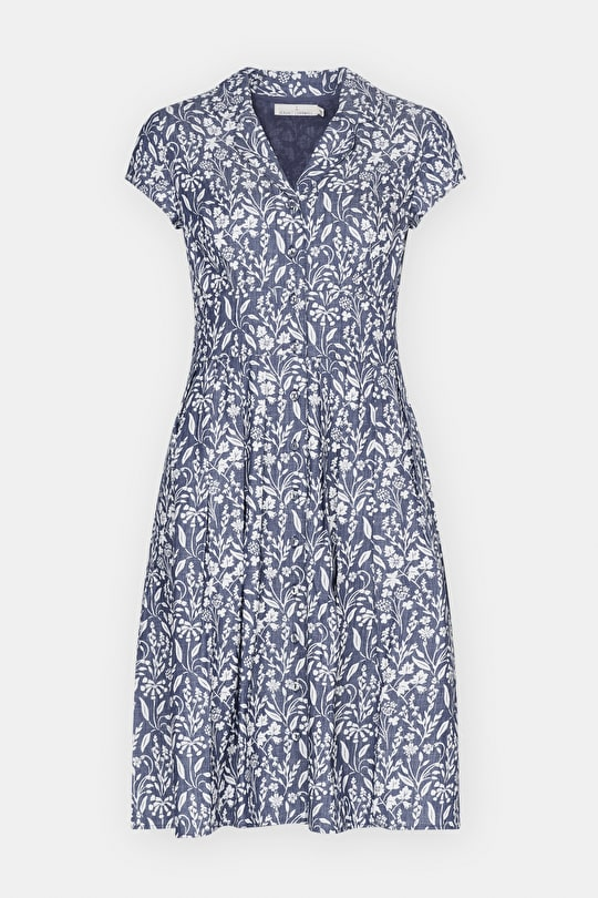 Beatrice Dress, Beautiful Fit and Flare Cotton Shirtdress - Seasalt